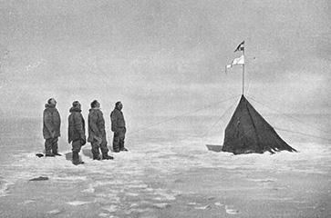 Amundsen's expedition at the South Pole, December 1911