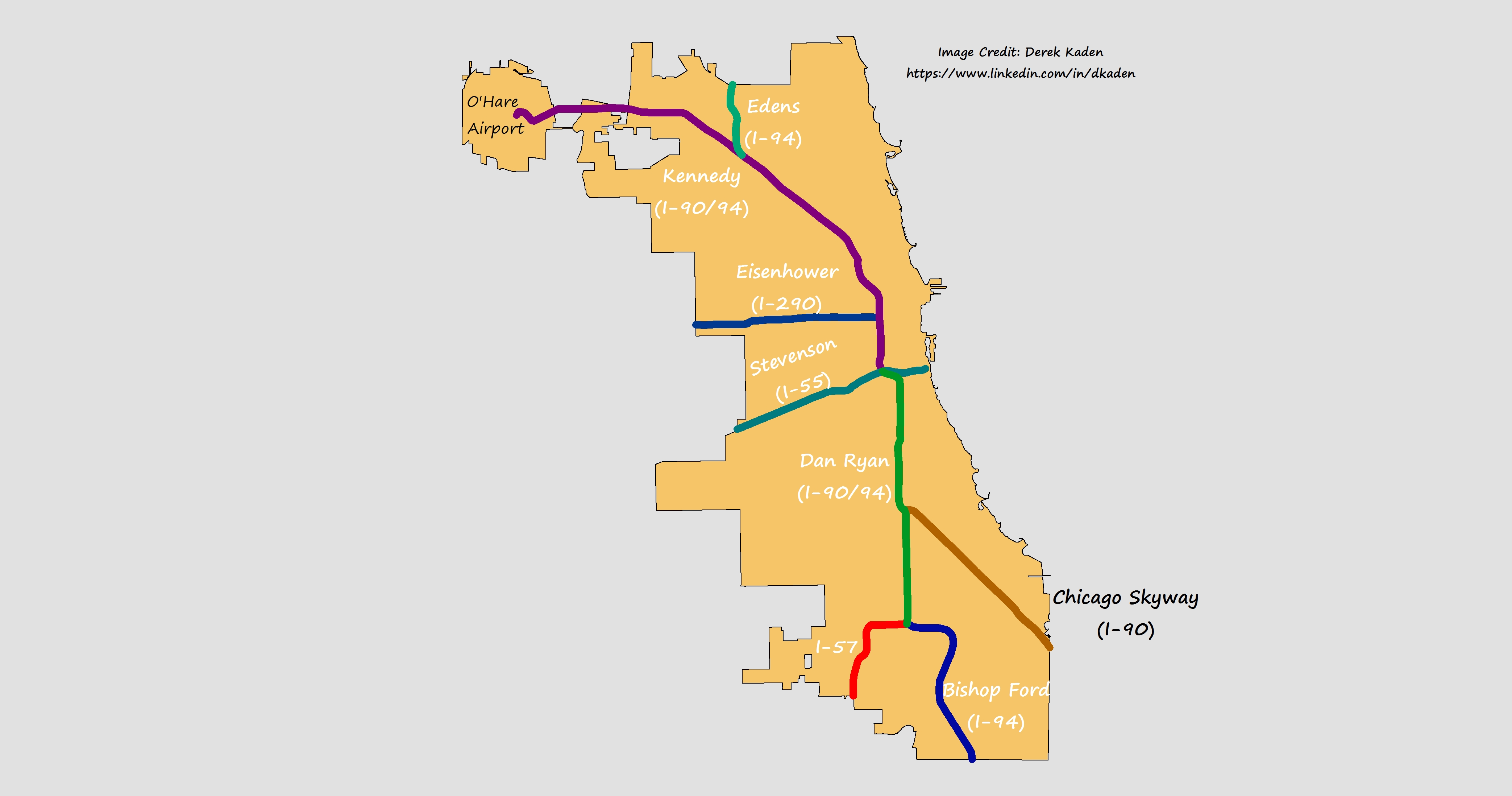 Chicago39s Interstate Names Explained